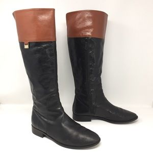 Cole Haan Walden Genuine Leather 2Tone Riding Boot